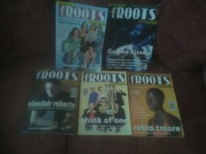 5 ISSUES - fRoots (Folk Roots) July-Dec 2003- No's 241-246 - GREAT VALUE