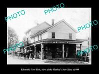 OLD LARGE HISTORIC PHOTO OF ELLENVILLE NEW YORK, THE HANLEY NEW STORE c1900
