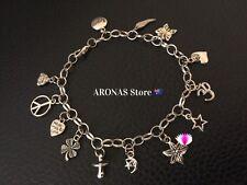 New Customised Charms Bracelet  24 cm Birthday /Women Xmas Gift