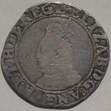 More details for elizabeth i shilling hammered tudor coin, mm key key over woolpack 5.88g