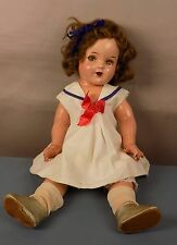 ANTIQUE SHIRLEY TEMPLE COMPO DOLL SAILOR DRESS