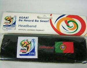 FIFA World Cup Headband Sweat Band Portugal Soccer South Africa 2010 New