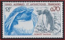 TAAF N°105** Oiseau : Gorfou sauteur,1984, FSAT Bird :Rockhopper penguin MNH