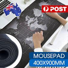 40x90cm World Map Mousepad Mouse Pad Mat Gaming Laptop Computer LARGE