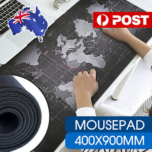 40x90cm World Map Mousepad Mouse Pad Mat Gaming Laptop Computer LARGE