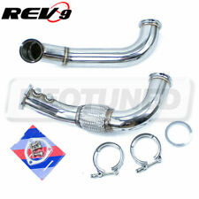 "Rev9 3"" Stainless Sidewinder Turbo Downpipe 3"" V-Band For RSX K20 06-11 Civic SI"