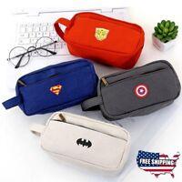 Superhero Pencil Case Large Capacity Multifunction Pen Box School Stationery