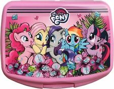 Hasbro My Little Pony Lunch Box School Sandwich Plastic Case Holder Container
