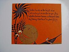 "Sunny ""Merry Christmas"" Card w/ Sun, Palm Tree & Sword Fish w/ Cute Verse   *"
