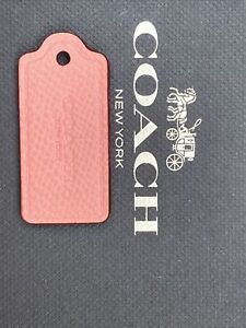 Coach Salmon Light Pink Pebbled Leather Hangtag NWOT