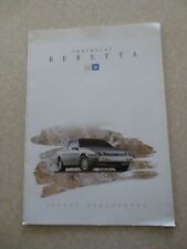 1993 Chevrolet Beretta advertising booklet - Dutch