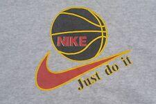 NIKE Just Do It Basketball OSFA Crewneck Sweatshirt 90's Vintage Made in USA