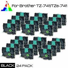 24 PACK TZ741 TZe741 Black on Green 18mm Label Tape For new PT-P950NW, US