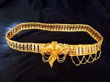 Hip Chain Bollywood Belly Dance Waist Belt Indian Gold Jewellery Kamar Bandh A3