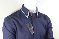Dominic Stefano - Button Down Double Collar Men's Shirt (Small-XXXL) RRP £29.99