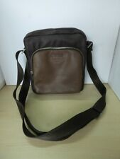 Brown Faux Leather GUESS Cross Body Handbag #ZS