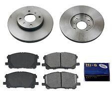 Front Ceramic Brake Pad Set & Rotor Kit for 2000-2001 Nissan Sentra SE