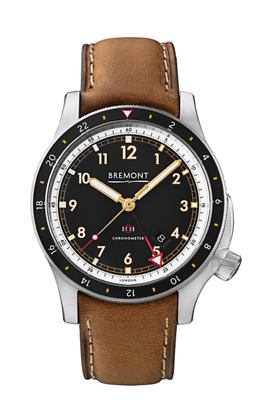 AUTHORIZED DEALER Bremont IONBIRD Leather Strap MEN TITANIUM GMT Automatic Watch