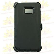 Black for Samsung Galaxy Note 5 Defender Case Cover w/(Belt Clip fits Otterbox)