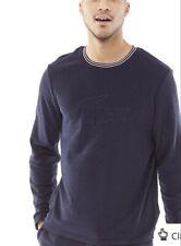 Lacoste Men's Lounge Long Sleeve Crew Sweatshirt Night Blue.