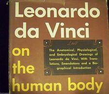 LEONARDO DA VINCI ON THE HUMAN BODY -  LARGE IMPORTANT ART COFFEE TABLE BOOK