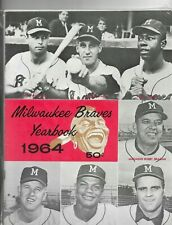 MILWAUKEE BRAVES 1964 YEARBOOK - EXCELLENT CONDITION  - HANK AARON