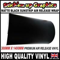 Matt Black Sun Strip Air Release Wrapping Vinyl 8in x 1400mm