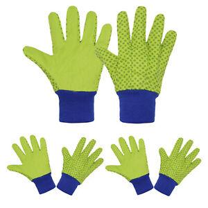 3 Pairs Childrens Gardening Gloves Soft Comfortable Yard Garden Work Gloves