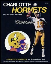 Wfl Charlotte Hornets Game Program Qb Tom Sherman Cover 8 X 10 Photo Reprint