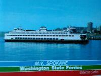 amazing VINTAGE PHOTO POST CARD M.V. FERRY SPOKANE   & SEATTLE WASHINGTON