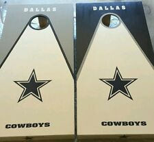 Dallas Cowboys DECALS 10 CORNHOLE Board Decal Set Sticker Decals -2 Free Circles