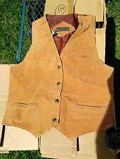 Don't Stop Classics Mens Brown Leather Vest Size LARGE