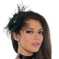 noir gothique Corbeau Plume Bibi Barrette femmes Déguisement Steampunk