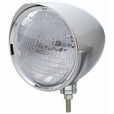 """Chrome 7"""" Billet Style """"CHOPPER"""" Headlight w/ Razor Visor - 6014 Seal Beam Bulb"""