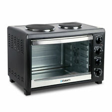 5 Star Chef 45L Convection Oven with Hotplates - Black (ECO-DHP-45L-BK)