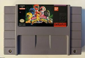 Mighty Morphin Power Rangers Super Nintendo SNES Tested - Great Condition