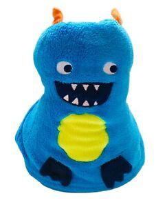 "Carters Baby Kids Soft Warm Plush Fleece Blue Roll-Up Monster Blanket 40""x50"""