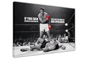 CANVAS PRINTS MUHAMMAD ALI BOXING PICTURES WALL ART PHOTOS FAMOUS QUOTE SPORTS