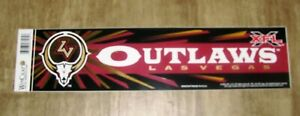 2001 Inaugural XFL Football Bumper Sticker - Las Vegas Outlaws