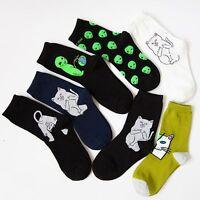 Women Men Spring Alien Planet Stockings Cotton Art Funny Cartoon Cat Socks