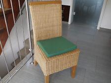 Stuhlkissen 40 x 40 x 4 cm Sitzkissen grün , 50% Baumwolle 50% Polyester