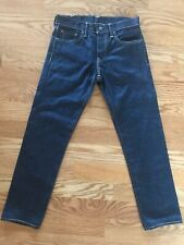 Men's Selvedge Denim 511 Levi Strauss jeans dark wash 29x29