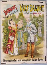 CH. LEVY VINTAGE POSTER   1896 BONBONS (CANDYS) VERT-GALANT