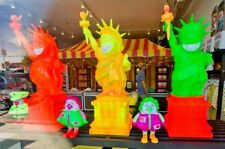Ron English Liberty Grin Black Light Magic Orange Popaganda w Base