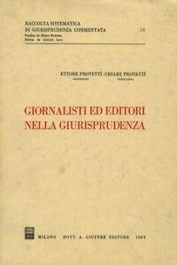 Giornalisti ed editori nella giurisprudenza.