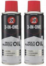 2 x 3-In-1 Multipurpose Oil Lubricates Cleans Prevents Rust Spray 200ml