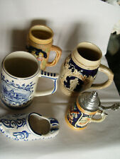 Steins Vintage Group Of 4 plus a slipper @