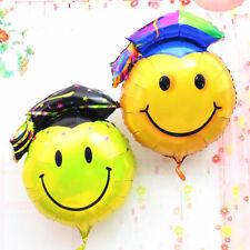 Graduation foil balloon smile smiley face cap mini owl congratulations grad