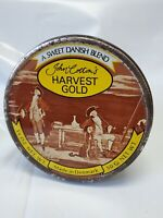 Vintage John Cotton's Harvest Gold A Sweet Danish Blend Tin Demark 4.75""