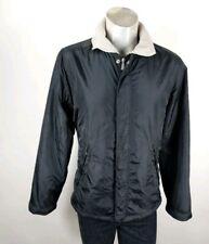 Diesel Mens Black Warm Fleecy Lined Hooded Jacket Medium